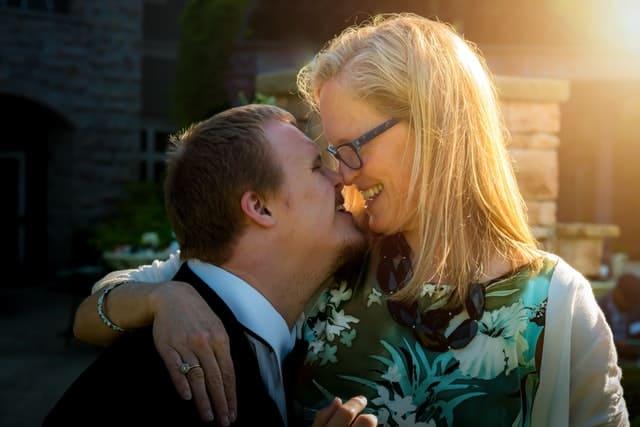 אמא ובן עם תסמונת דאון - תמונה להמחשה